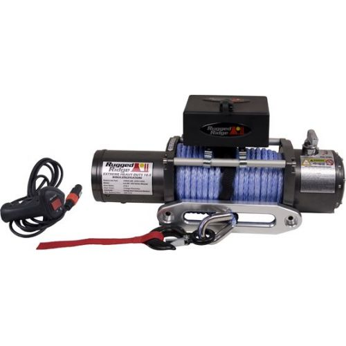 10500lbs Performance Winch with Prewound Synthetic Rope from Rugged Ridge