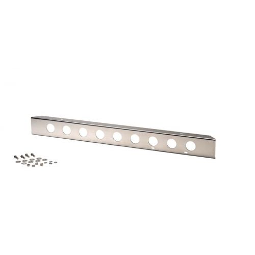 """42"""" Front Bumper with holes Polished Stainless Steel  1945-1986 Jeep CJ"""
