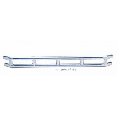 """3"""" Double Tube Front Bumper Polished Stainless Steel;  1976-1986 Jeep CJ - Kentrol"""