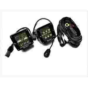 2-INCH SQUARE CREE LED LIGHTS - WITH HARNESS - Amco